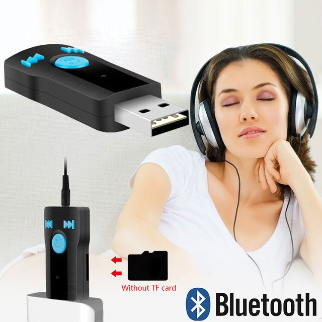 Mini Bluetooth Receiver Music USB Car Bluetooth Receiver Tool Portable Earphone Bluetooth Receiver Phone for Samsung