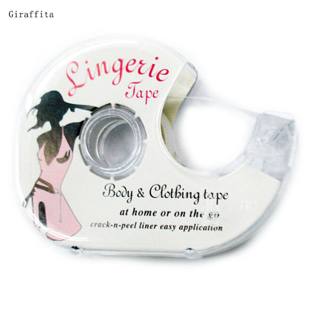 Fashion tape 3 Meters  Double Sided Adhesive Safe Lingerie Tape Body Clothing Clear Bra Strip Waterproof Tape V-neck