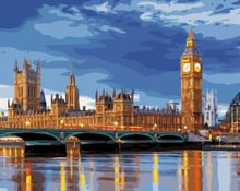 London Landscape Of Night Frameless Pictures Painting By Numbers DIY Digital Canvas Oil Painting Home Decoration GX9593