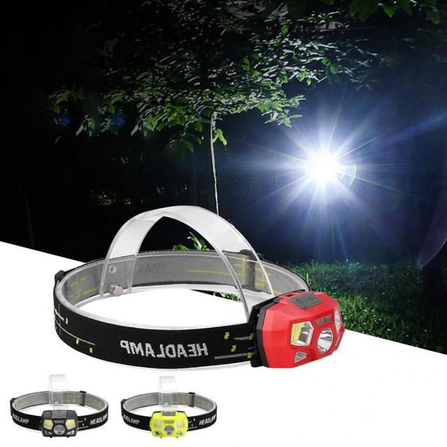 Head Lamp USB Rechargeable Mini LED Headlamp Wave Induction Headlight Band For Outdoors Hiking Camping  Cycling Hunting