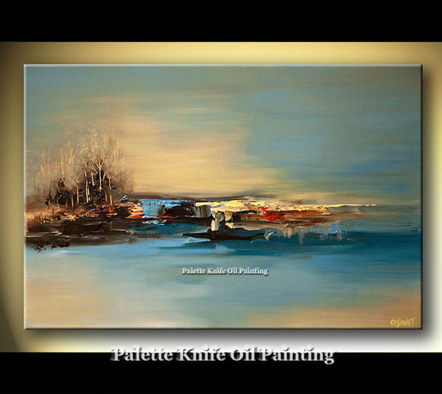 Hand painted Canvas Oil painting Wall Pictures for Living room wall decor art canvas painting palette knife landscape 064