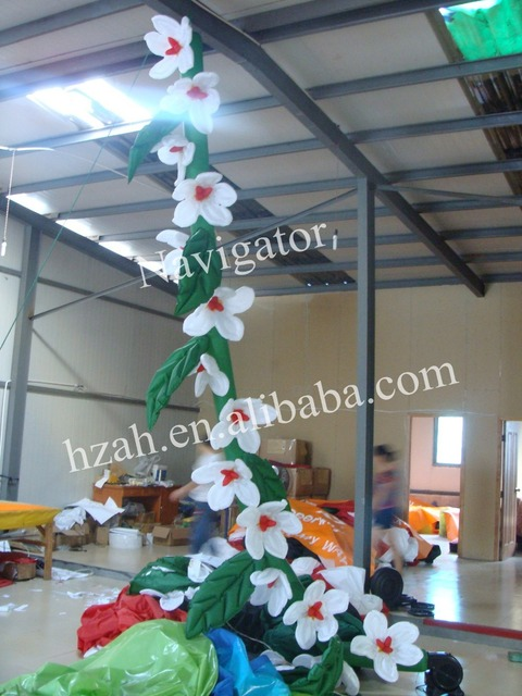 hanging inflatable flower chain for party decoration