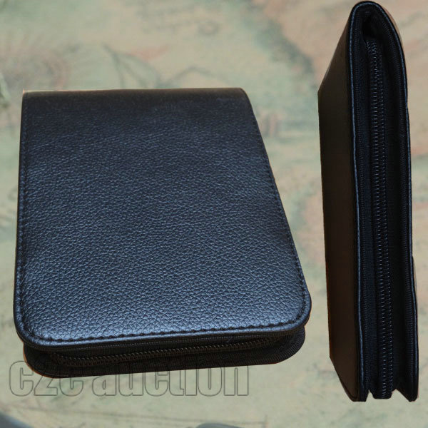 PEN CASE 12 FOUNTAIN OR ROLLER BALL NEW ANTIQUE BLACK NEW AND IMPROVED PVC