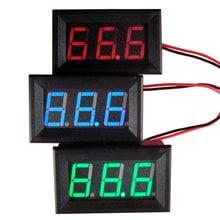 DC 0-30V Voltmeter LED 3-Digital Display Voltmeter Panel Volt Voltage Meter Motorcycle