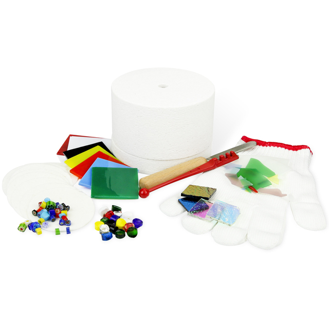 small microwave kiln kits(10pcs set) fusing glass  in micowave oven create jewelry pendant art decoration