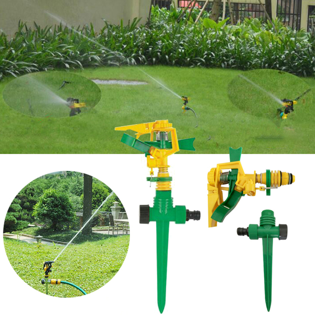 Lawn 360 Degree Watering Rotating Water Nozzle Impulse Sprinkler Fitting Garden