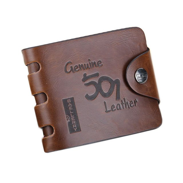 Free shipping 20pcs/lot 2019 new stylish Mens Wallet ,Mens coin purse,Genuine leather,brown color,dropshipping,wholesale WB25