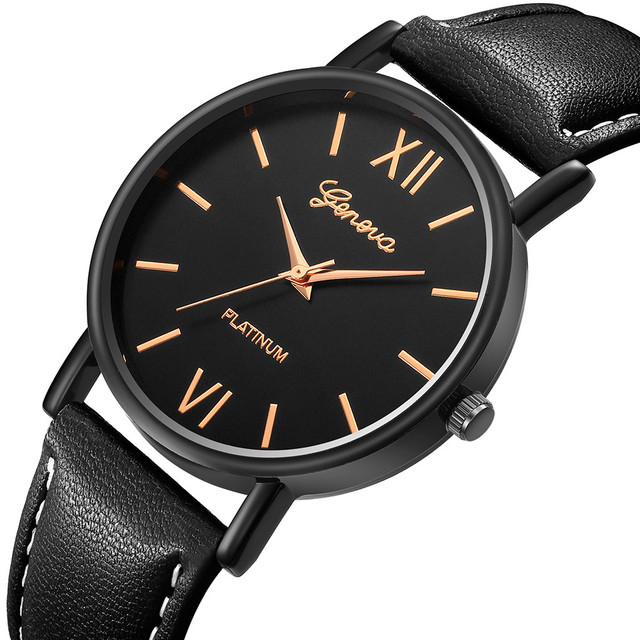 Men Women Leather Strap Line Analog Quartz Ladies Wrist Watches Fashion Watches Business Wristwatches Classics Dress Watch