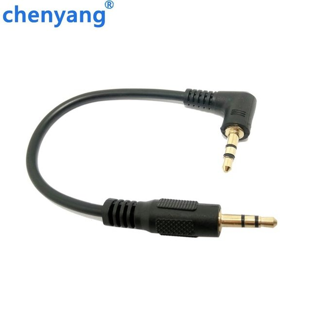 10cm 3.5mm L-shape 90 Degree Male to Male Earphone Extension Cable Audio Adapt for cell phone MP3 in the Car Free Shipping