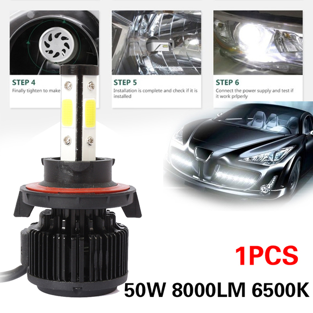 9008/H13 6500K Car Styling LED Fog Light High Power Car Accessories Front Lamp Super Bright Automobile LED Headlight