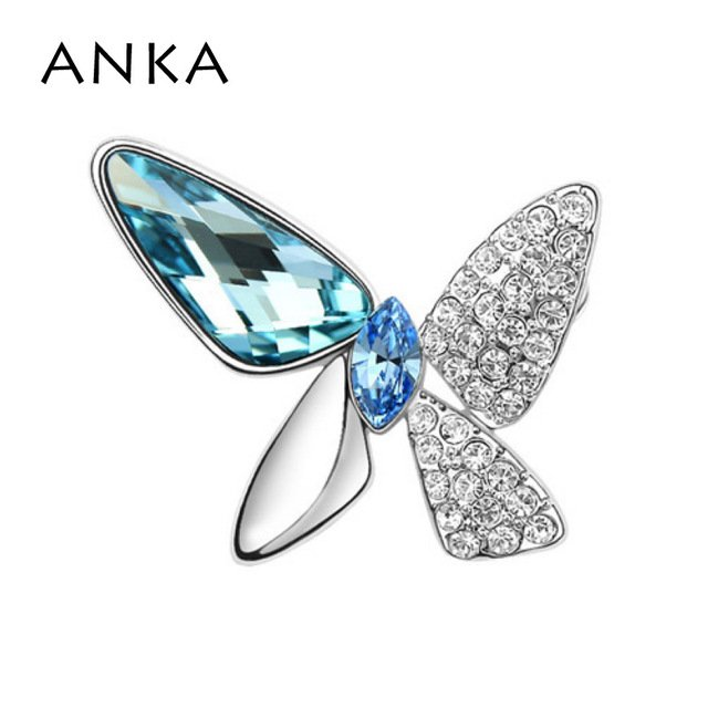 ANKA Fashion Butterfly Brooch Pin Dress Brooches New Fashion Crystal Fashion Brooch Main Stone Crystals from Austria #77455