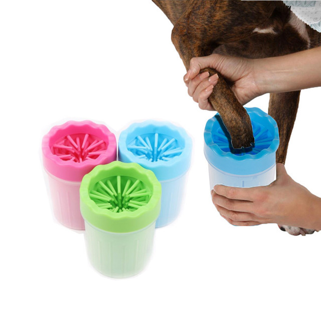 Pet Cats Dogs Foot Clean Tool For Dogs Cats Cleaning Tools Soft Plastic Washing Brush Paw Washer Pet Accessories for Dog