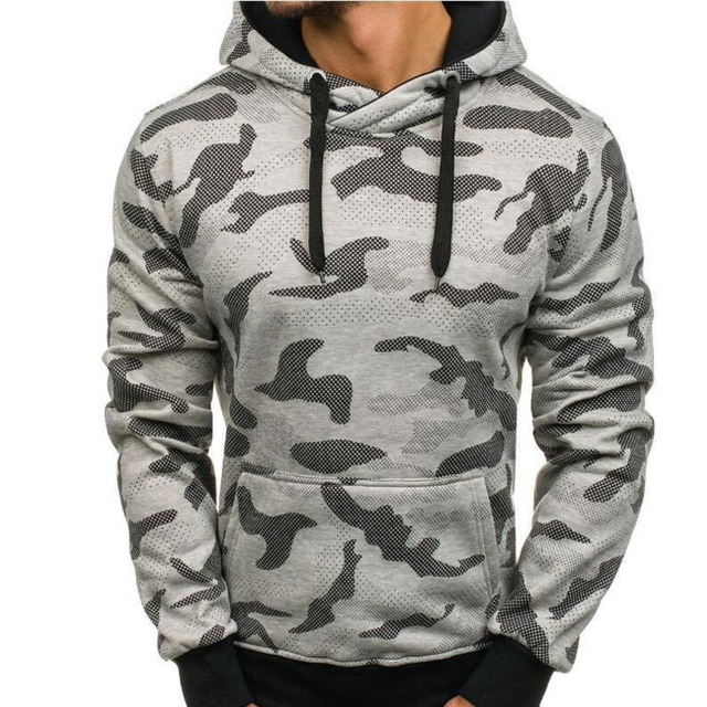 New camouflage men's hoodies big pocket hoodie fashion men casual hoodies long sleeve hooded