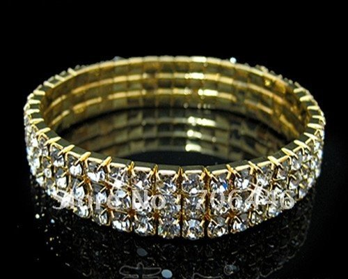 Fashion 3-row rhinestone Crystal Bridal bracelet Jewelry