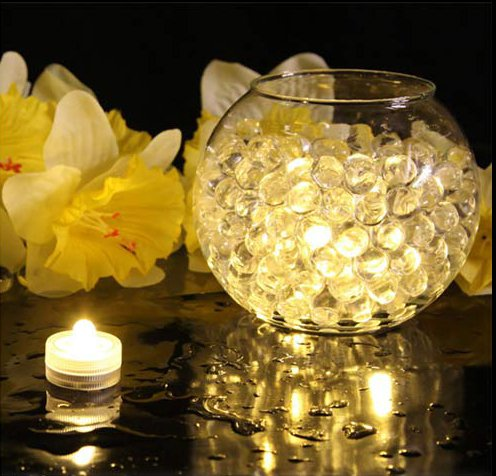 12pcs Fairy Wedding Decoration Waterproof Submersible LED Tea Mini Lights With Battery Christmas Party Indoor Vase Table Lamp