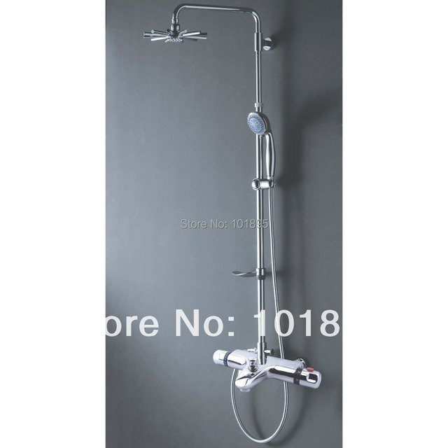 X9021SS1 - Luxury Wall Mounted Chrome Color Brass Thermostatic Shower Faucet