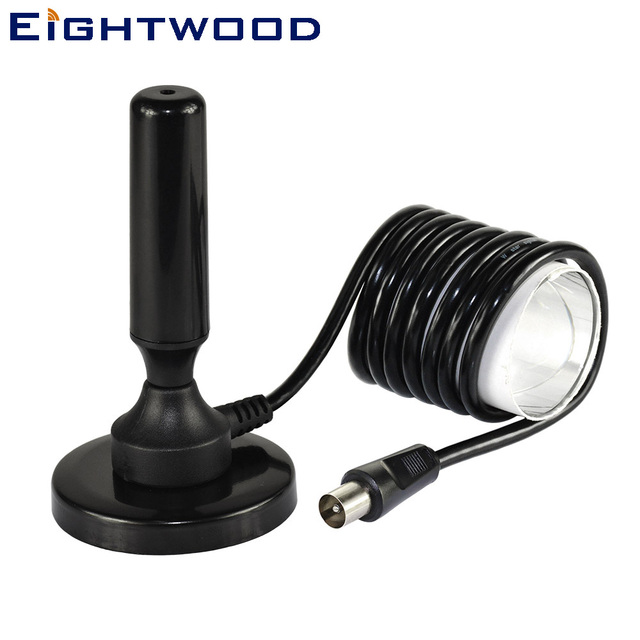 Eightwood High Gain Digital Freeview 20 dBi Magnetic Base Antenna Aerial With TV Plug Male RF Connector for DVB-T T2 TV HDTV