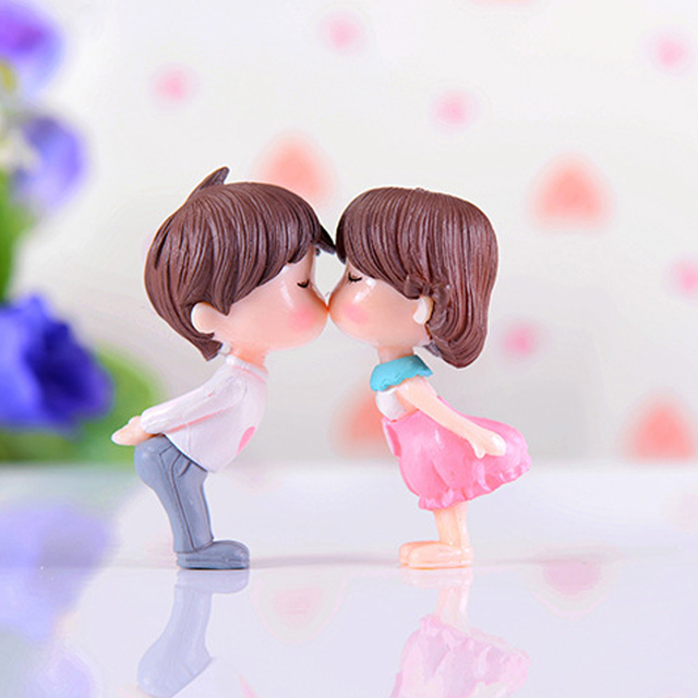 2019 Resin Miniature Craft Exquisite Figurine Miniature Statues for wedding Party Angel Kiss Drop Shipping Gift Decor