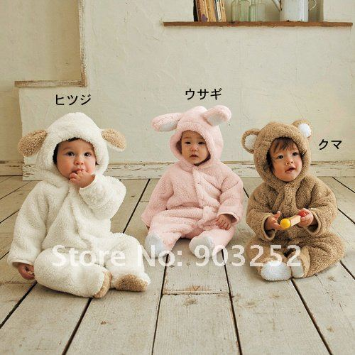 Animal Modeling Girl's clothing sets Infant Rompers/Kids Coat/Baby Costume /Baby Clothings FOR winter