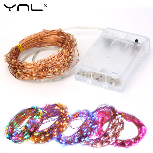 Christmas LED String Lights Battery Copper Wire 100 LEDs 10M USB Waterproof Wedding Party Decoration Flasher Fairy Lights