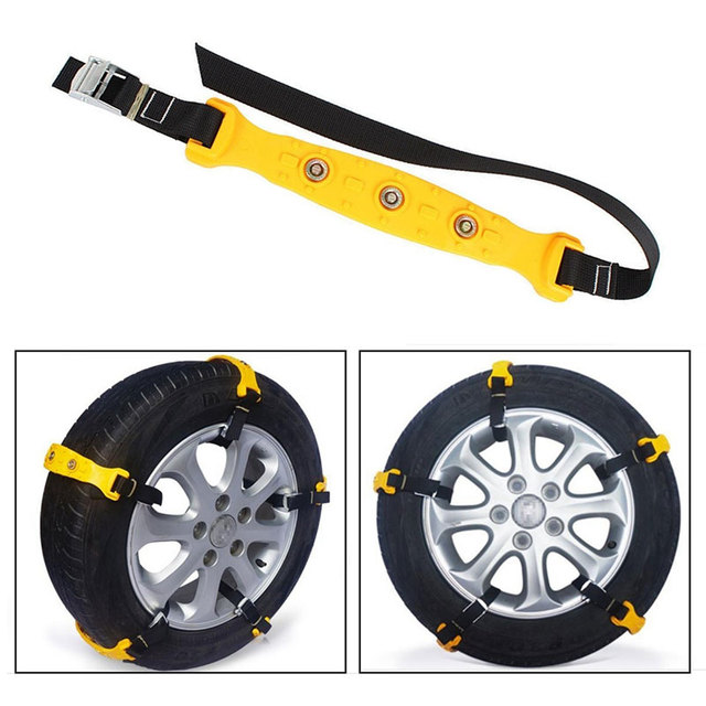 TPU for Mud Wheel Anti-Skid Chains Easy Installation Snow Tire Belt Vihecle Tyre Roadway Safety Climbing Mud Ground Snow Chain