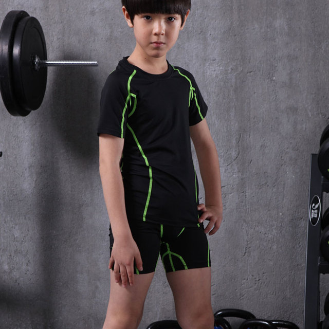 boys Girls Compression Running Set Pants Shirts Youth Quick Dry Football Soccer Basketball Jogging sets Clothing Tights Leggings