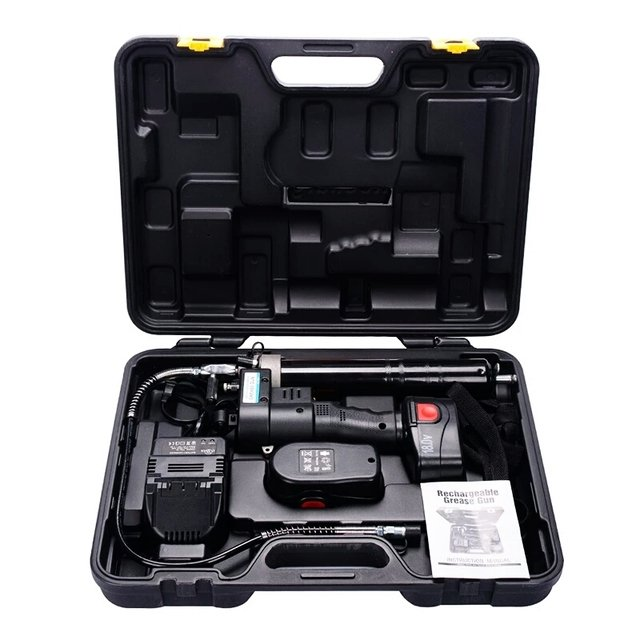 18v,400ml Electric Cordless Portable Grease Gun Lubricant Oil Add Tools Rechargeable Battery