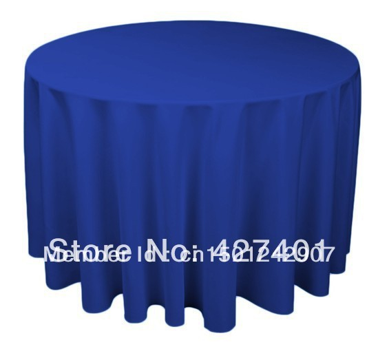 """Hot Sale 120"""" Royal Blue Round Table Cloth Polyester Plain Table Cover For Wedding Events &Party Decoration"""
