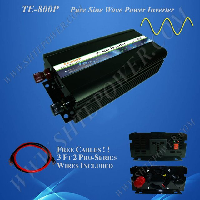 Power inverter DC 12v to AC 230v, 800w pure sine wave power inverter, CE&RoHS Approved