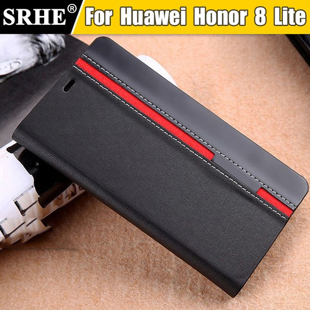 Huawei Honor 8 Lite Case Flip PU Leather Luxury Fashion Stand Cover Case For Huawei Honor 8 Lite With Phone Holder