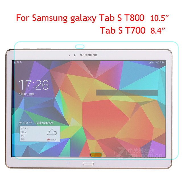 Tab S 8.4 T700 9H Tempered Glass For Samsung Galaxy Tab S 10.5 T800 T805 Screen Protector Explosion proof 0.33mm Film Hard Cover