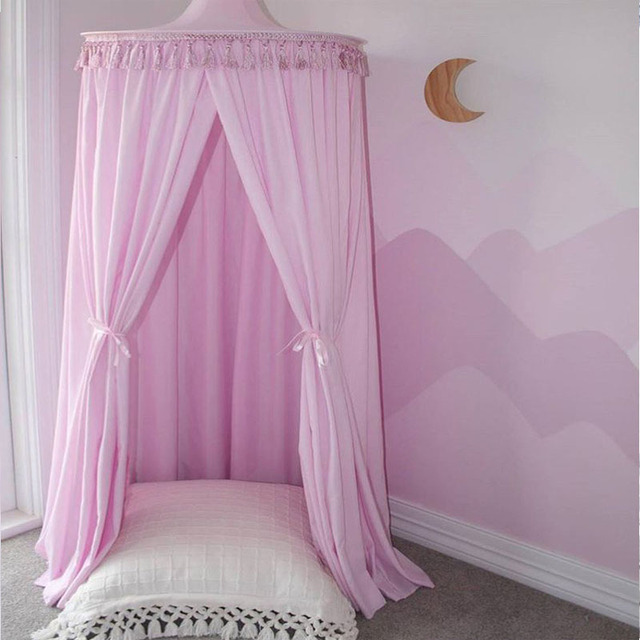 Palace Mosquito Net Lace Children Bed Canopy Round Netting Curtain Dome Tent