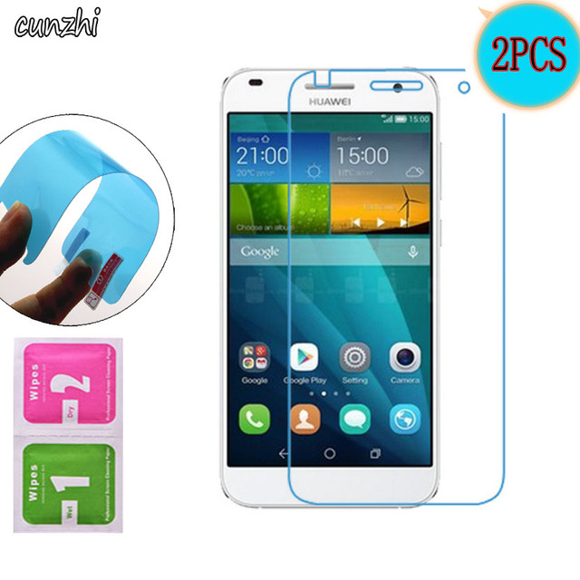 2PCS  Ultra Clear Soft TPU Nano-coated Tempered Explosion proof Screen Protector Film For Huawei Ascend G7