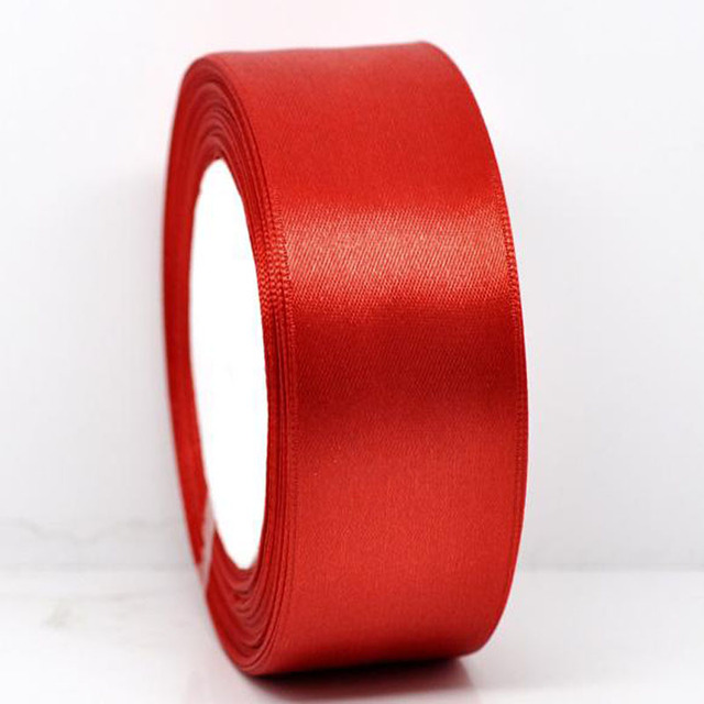 """25yards 1Roll 1-1/2"""" Wide Red Satin Ribbon For Packing Craft Wedding Decorations Ribbon Bow 38mm"""