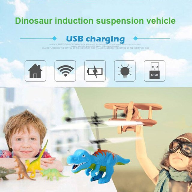 Flying Crystal Ball Dinosaur Floating Helicopter Creative Gifts Mini RC Infraed Induction Helicopter Dinosaur For Children Toy