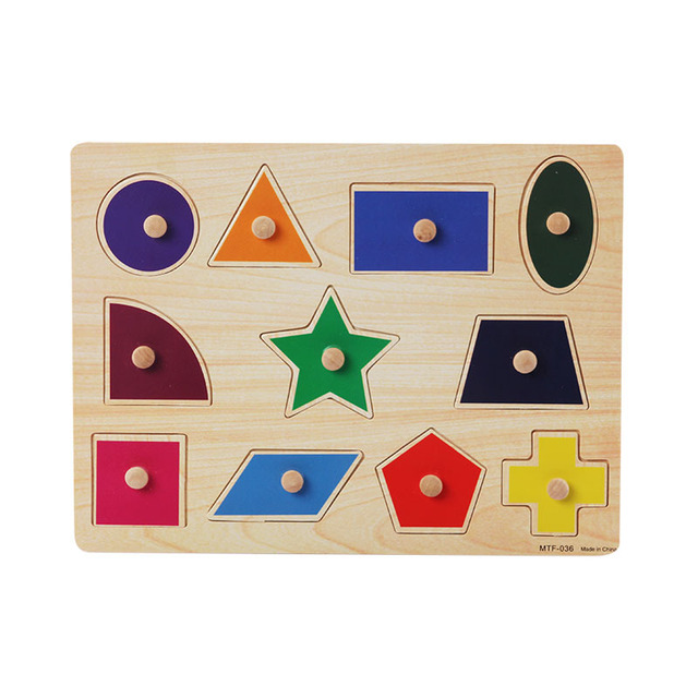 Kids Early Educational Toys Hand Grasp Wooden Puzzle Toy Alphabet Digital Learning Jigsaw Wood Toys For ChildrenUQ2088H