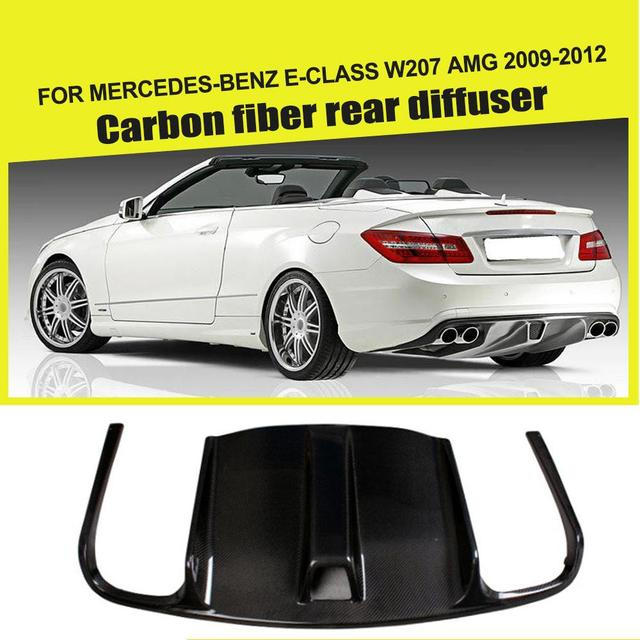 Carbon Fiber / FRP Rear Bumper Diffuser Lip Spoiler for Mercedes-Benz E-Class W207 C207 E63 AMG Coupe Contertible 2009 - 2012