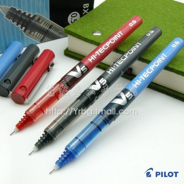 Original pilot pen baile bx-v5 ball pen baile v5 unisex pen 0.5mm