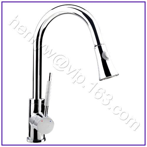 L15052 - Luxury Deck Mounted Chrome Color Removable Pull Out Spray Kitchen Faucet
