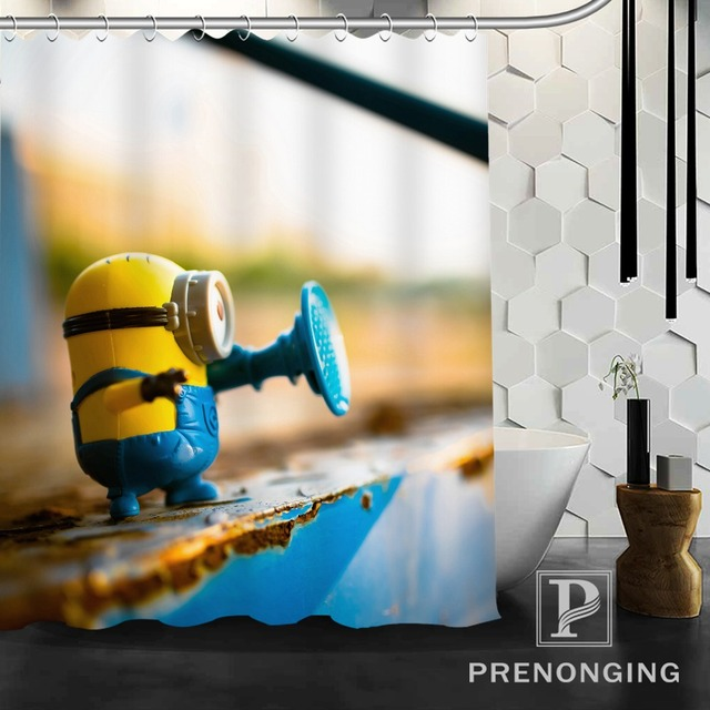 Personalized Custom Shower Curtain Minion Best Gift Home Decor Bathing Curtains Cloth Waterproof Polyester S171128-27