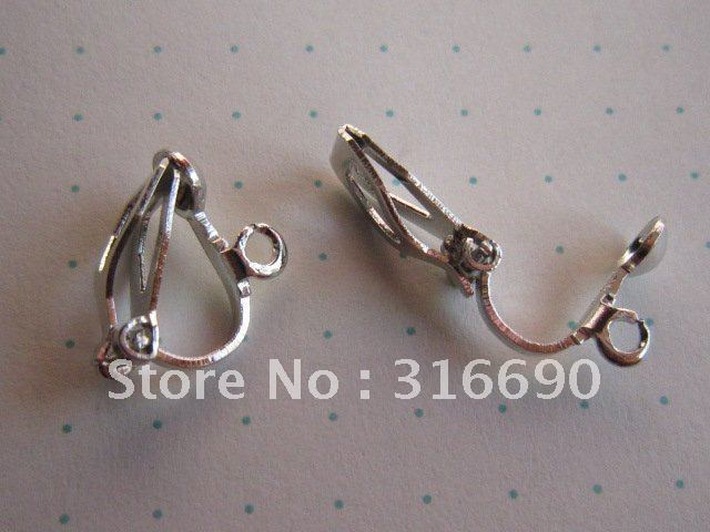 Free shipping 13*11mm silver*gold plate clip on earring 200pcs/lot