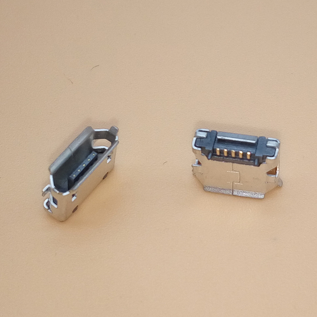 10PCS/LOT Micro USB Connector Jack Female Type 5Pin MK5P SMT Tail Charging socket PCB Board