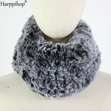 Women Winter Thicken Plush Faux Rabbit Fur Scarf Solid Candy Color Collar ring Neck Warmer Shrugs Knitted Neckerchief  Wrap