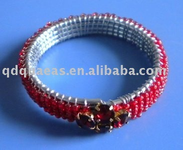 red beaded crystal napkin ring