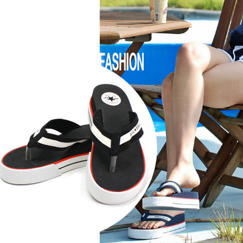 New arrival New 2015  women sandal flip flops platform sandals Pure color beach sandals and slippers Size 35-40 + Free shipping