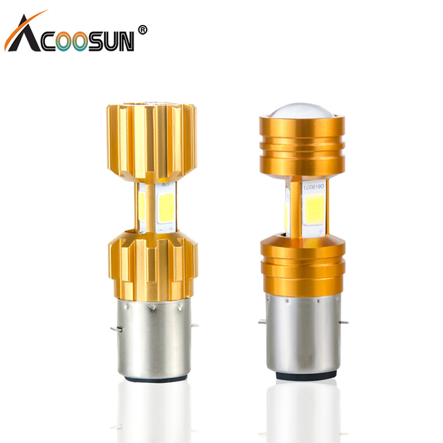 ACOOSUN LED Motorcycle Headlight  H4 P15D BA20D COB chip  High Low Beam Light 3400lm Super Bright White Motorbike Head Lamp Bulb