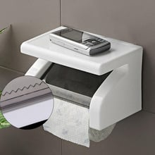 Bathroom Wall Mount Toilet Paper Holder With Shelf Toilet Paper Roll Holder Creative Tissue Storage Box Case Tissue Dispenser