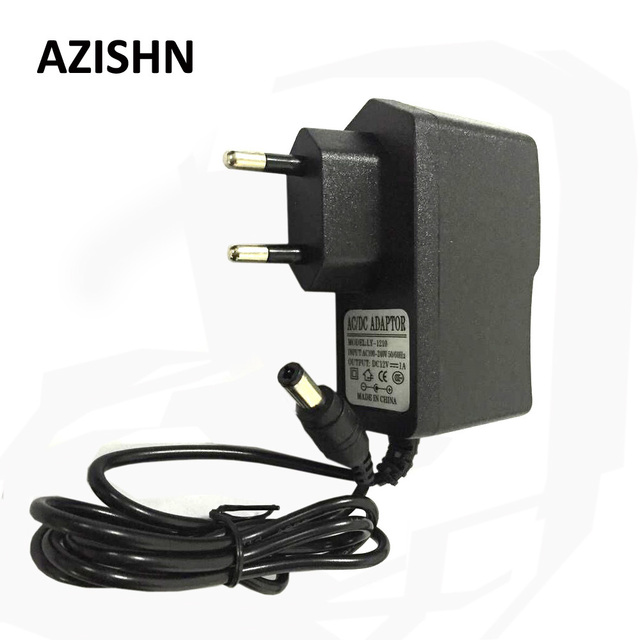 AZISHN AC 100-240V DC 12V 1A EU Plug AC/DC Power adapter charger Power Adapter for security CCTV Camera (2.1mm * 5.5mm)