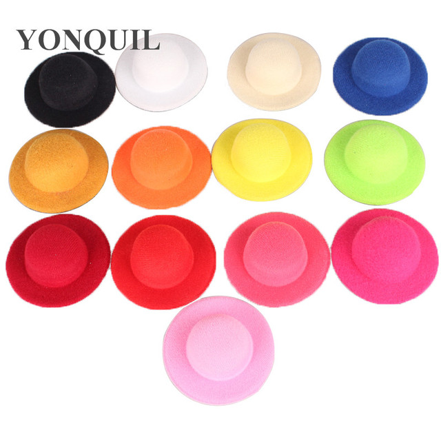 "Free shipping 2.75""(7cm) 13 color mini top hats  fascinator base children party hats DIY hair accessories 24 pieces/lot MH007"