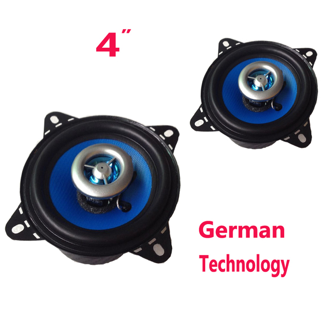 "Top Quality 4"" coaxial Car Acoustic Speaker German Technology Car Audio Stereo Speakers Horn"